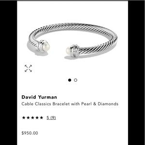 David Yurman - cable bracelet with pearls